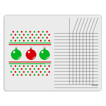 Ugly Christmas Sweater Ornaments Chore List Grid Dry Erase Board