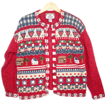 Houses & Hearts Ugly Valentine's Day Ugly Sweater - The Ugly Sweater Shop