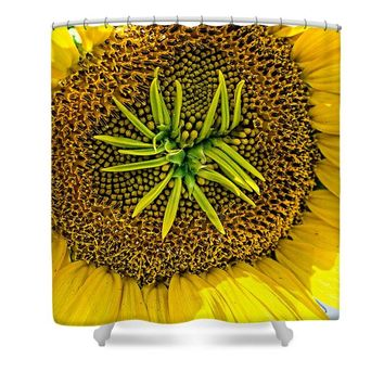 Alien Sunflower - Shower Curtain