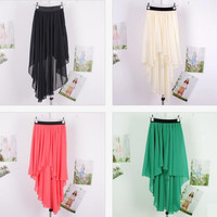 FASHION COLORFUL SHORT AND LONG SKIRT