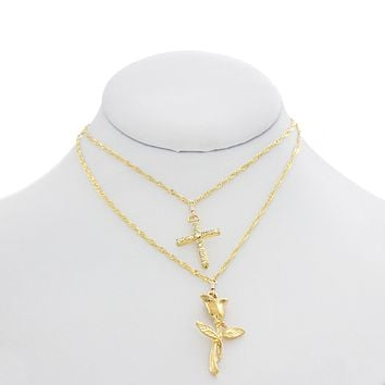 La Rose-Croix Layered Choker