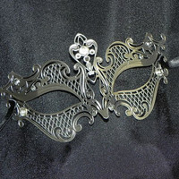 Petite Metallic Masquerade Mask - Small Sized