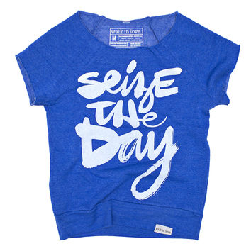 Seize the Day Blue Women's Rehearsal Pullover Sweatshirt