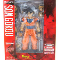 Son Goku Normal Saiyan Dragon Ball Z DBZ Bandai Tamashii S.H.Figuarts 6 inch/15CM PVC Action Figures Model Collection Toy
