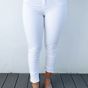 Anything Goes Jeans: White