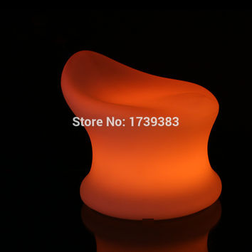 Waterproof colors changing illuminated plastic led low barstools glowing led baby chair remote control commercial bar furniture