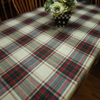 Vintage Plaid Christmas or Holiday tablecloth for housewares, home decor by MarlenesAttic