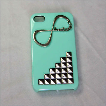 silvery punk style rivet one direction iPhone 5 case iphone 4 4s case 1D directioner phone case friendship love gifts trending