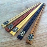 5pcs Japanese Bamboo Chopsticks Gift Set Multi Color Design (MNT)
