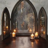 Victorian Trading Co Gothic Triptych Mirror 3 Part Cathedral Mirror