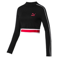 Evolution Women's Cropped Long Sleeve | Puma Black | PUMA Summer Special | PUMA United Kingdom