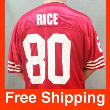 Vintage Jersey, Football, Jerry Rice Jersey, San Francisco 49ers, NFL, Wilson, Size Ad