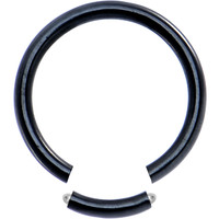 14 Gauge Black Anodized Titanium Segment Ring | Body Candy Body Jewelry