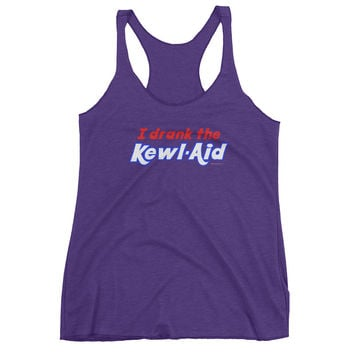 I Drank the Kewl Aid Psychedelic LSD Women's tank top