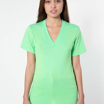 bb456wdl - Poly-Cotton Short Sleeve V-Neck