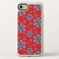 Snowflakes Pattern OtterBox Symmetry iPhone 8/7 Case