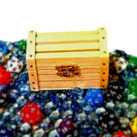 The Card Wiz Gaming Chest Filled With Counters And Dice (40pcs) Great For Magic (MTG) Cards, RPG Games, And Strategy Card Games