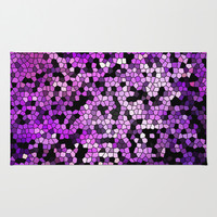 STAINED GLASS PURPLES Area & Throw Rug by Catspaws