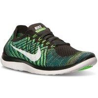 Nike Men's Free 4.0 Flyknit Running Sneakers from Finish Line | macys.com