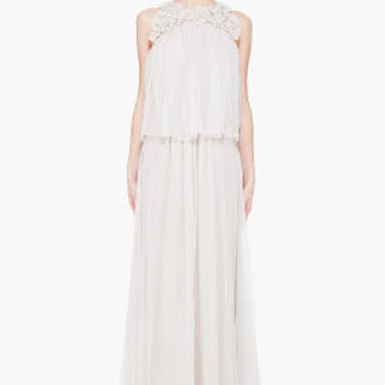 Chloe Silk Flower Gown for women | SSENSE
