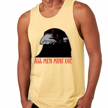 Three-eyed Crow All men must die men jersey tank top