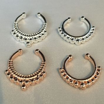 Delicate Faux Septum Ring