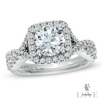 Vera Wang LOVE Collection 2-1/5 CT. T.W. Diamond Frame Engagement Ring in 14K White Gold - View All Rings - Zales