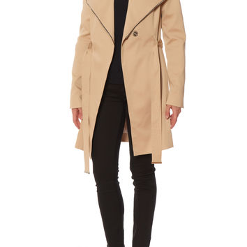 Soia & Kyo Wrap Coat With Collar