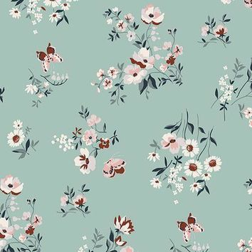 PRINTED WHITE FLORAL DAISY AND NUVE FLOWERS VINYL BACKDROP - 3X4 - LCBD6860 - LAST CALL