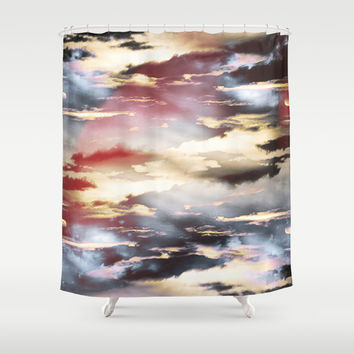Combateur II Shower Curtain by HappyMelvin Graphicus