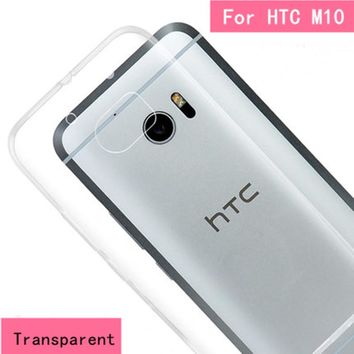 FOR HTC M10 Fashion TPU Soft  Case II Ultra Thin Transparent Silicone Case Cover