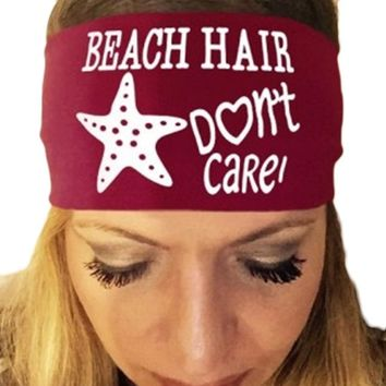 Women Beach Hair Don't Care Starfish - Bandana Headband - Headwear