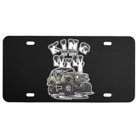King of the 4x4 Off Road Mudding License Plate