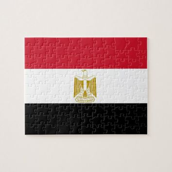 Puzzle with Flag of Egypt