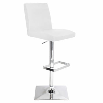 Captain Bar Stool White by Lumisource