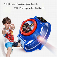New Children 3D Projection Cartoon Watch Boy Girl Gift Christmas Puzzle Electronic Toys 20 style pattern LED Digital Watch Kids