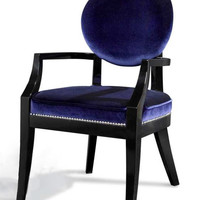 A&X Isabella Blue Fabric Dining Chair