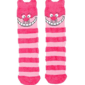 Disney Alice In Wonderland Cheshire Cat Plush Cozy Socks