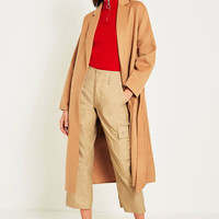UO Camel Belted Duster Coat | Urban Outfitters