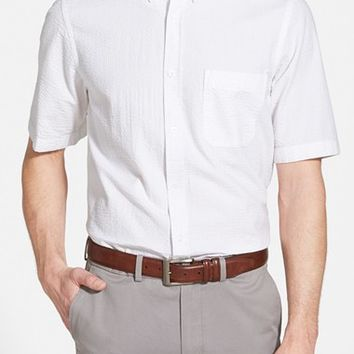 Men's Nordstrom Regular Fit Short Sleeve Seersucker Sport Shirt