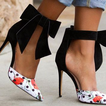 Butterfly Bow Stiletto
