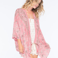 O'neill Berlin Womens Kimono Rose  In Sizes