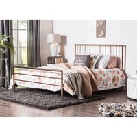 Furniture of America Hollander Contemporary Rose Gold Metal Bed | Overstock.com Shopping - The Best Deals on Beds
