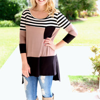 Match Maker Tunic - Mocha