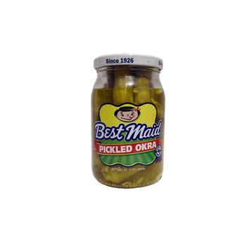 Best Maid Fresh Pack Pickled Okra 16 oz Glass Jar
