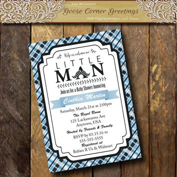 Shop little man mustache invitations on wanelo for Man wedding shower invitations