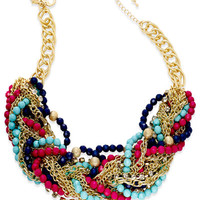 Thalia Sodi Gold-Tone Multi-Bead Chunky Torsade Necklace, Only at Macy's - All Fashion Jewelry - Jewelry & Watches - Macy's