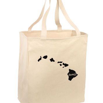 Hawaii - United States Shape Large Grocery Tote Bag