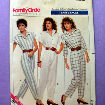 Women's Jumpsuit Misses' Size 12, 14, 16 Butterick 6087 Vintage Sewing Pattern Uncut
