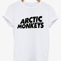 Hot Arctic Monkeys Premium Logo Printed Supreme Men Cotton T Shirt Tee - AR2